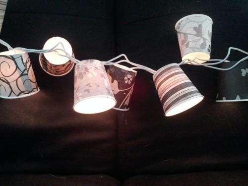 Cách làm đèn trang trí từ ly giấy